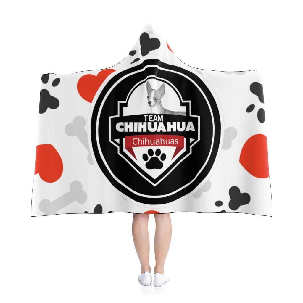 Team Chihuahua Hooded Blanket - 50 × 40