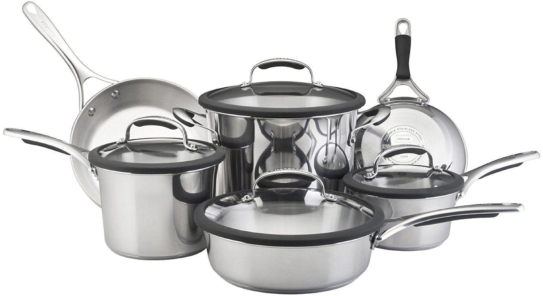 Kitchenaid gourmet stainless steel 10piece cookware set
