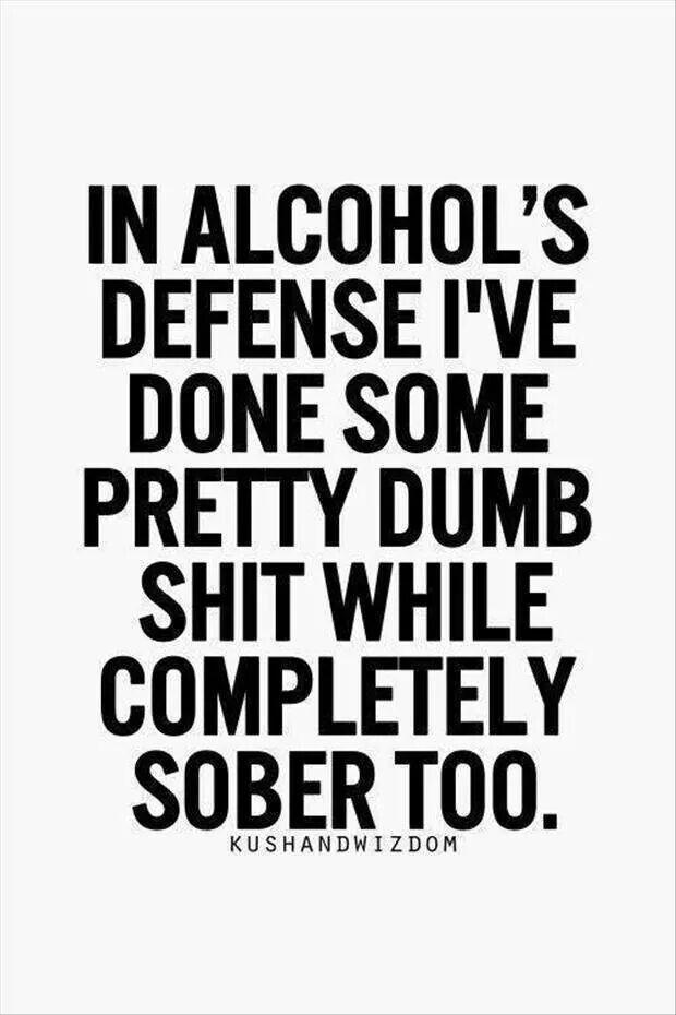 Alcohol defense