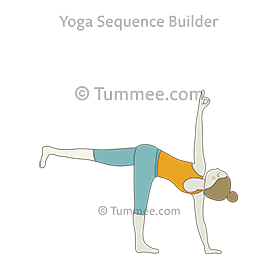 Revolved Half Moon Pose Yoga Parivrtta Ardha Chandrasana Yoga Sequences Benefits Variations And Sanskrit Pronunciation Tummee Com Yoga Poses Yoga Sequences Standing Yoga Poses