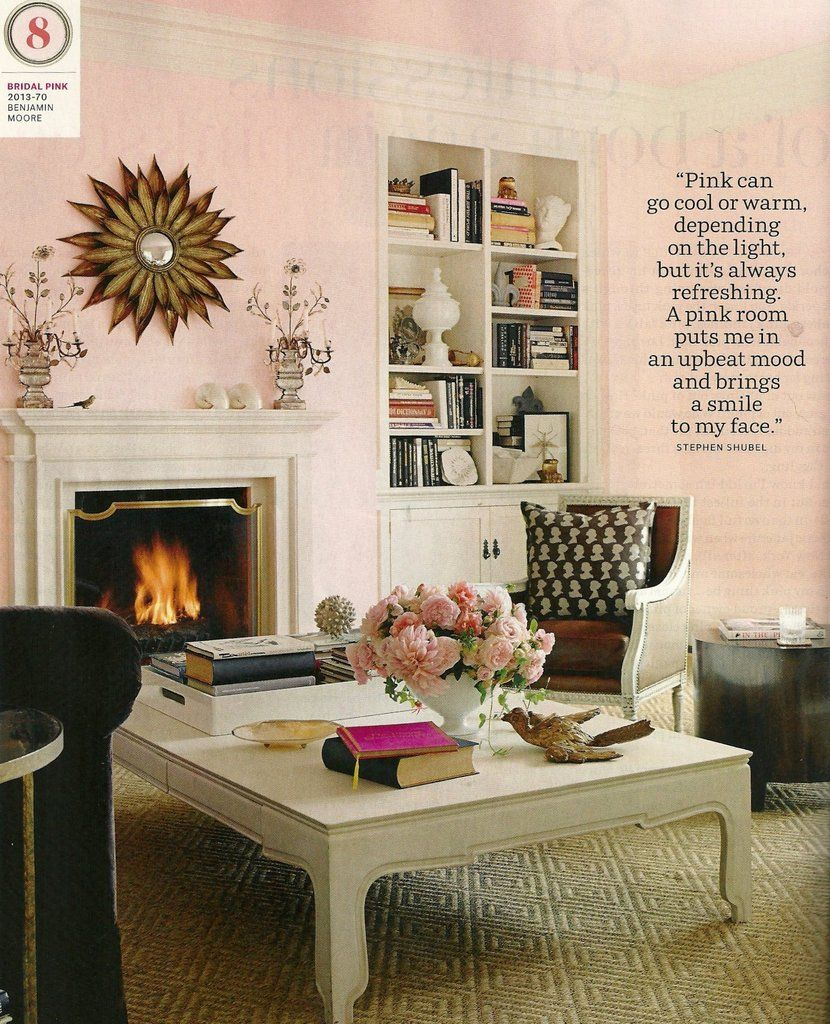 House Beautiful March 2017 Bridal Pink Paint Color