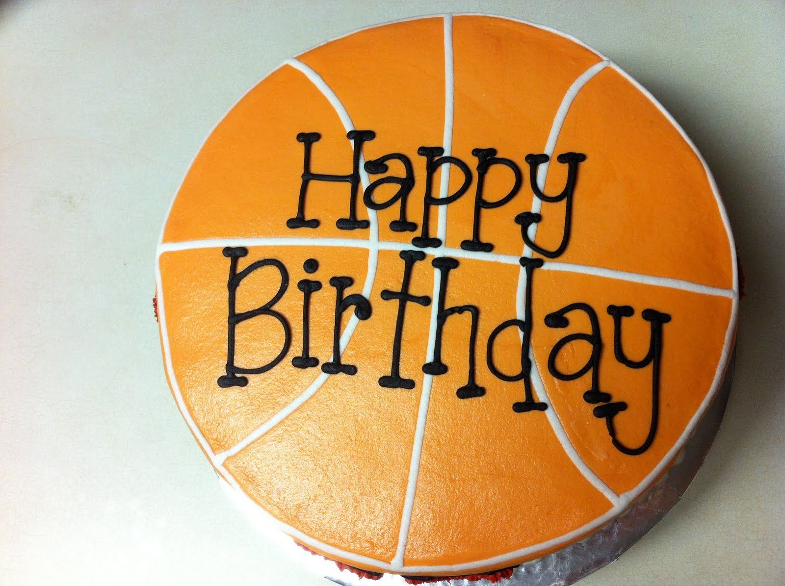 Basketball Court Cake Design