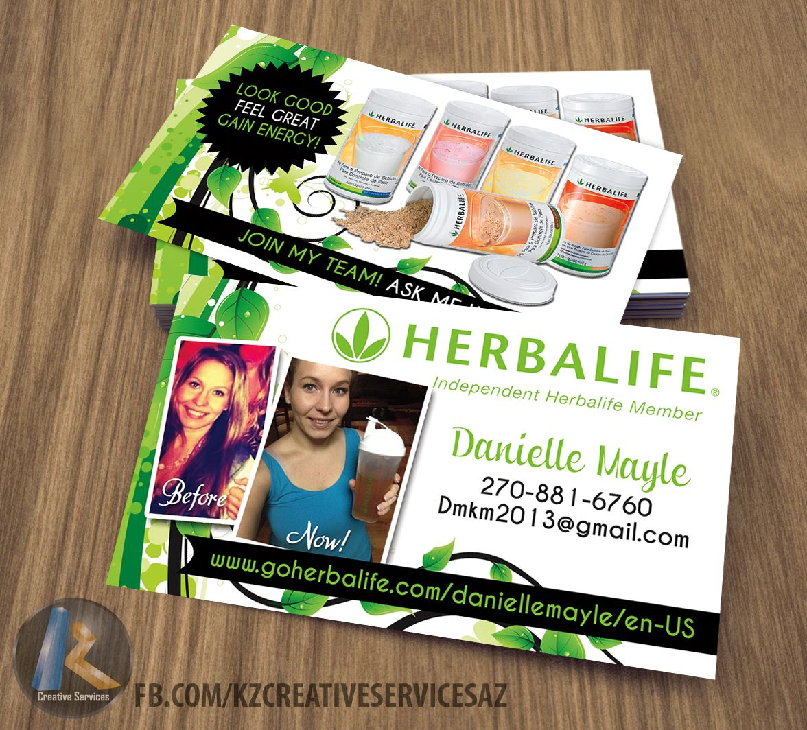Herbalife Business Cards style 2 from KZ Creative Services