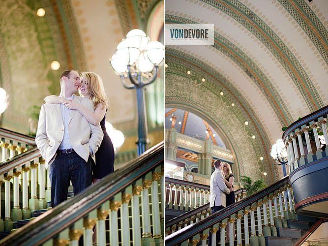 Union station st. louis engagement photo