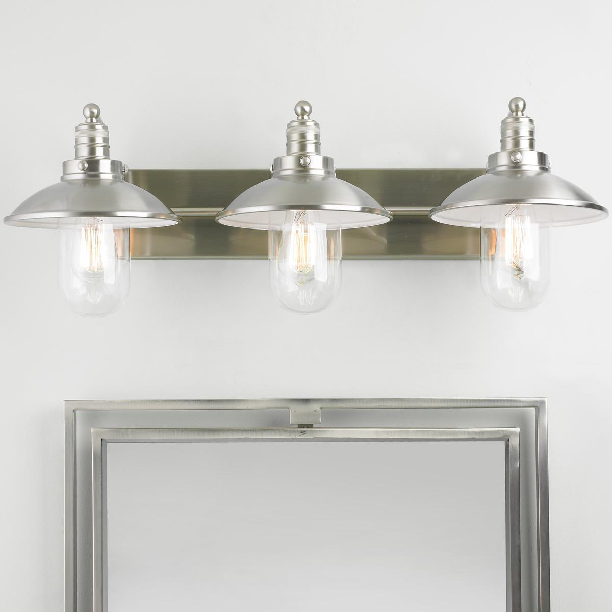 Schooner Bath Light 3 Light Bath Light Clear Glass Bulb