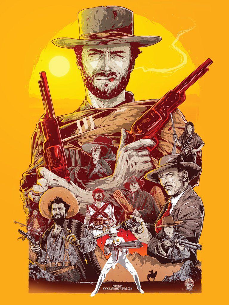 spaghetti western theme alternative poster art gd ill