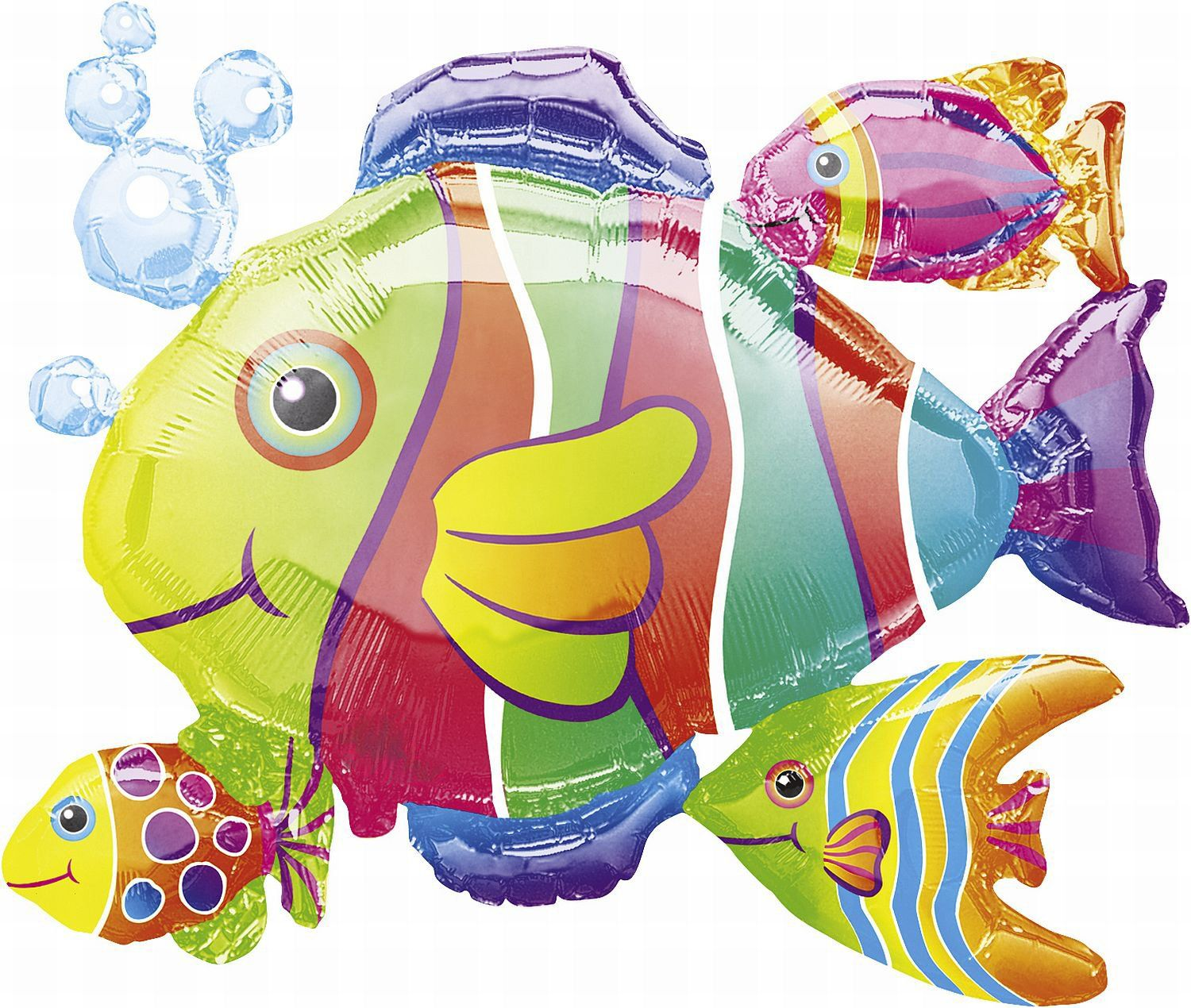 Anagram tropical fish cluster super shape balloons 24 x