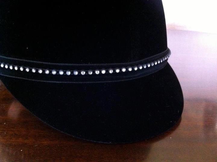 Rhinestone Bling Band, jewelry for your riding helmet | Velvet Rider