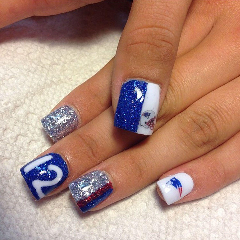 Patriots Nails. #12 | Patriots Nails | Pinterest | Patriots, Makeup ...
