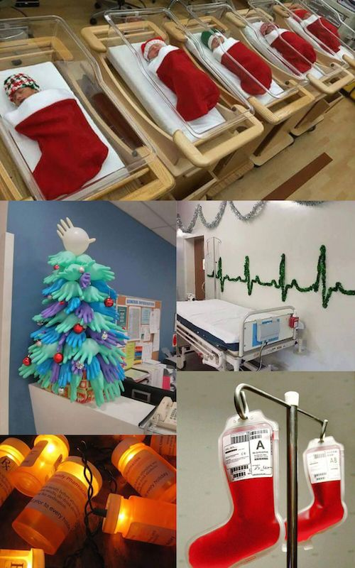 hospital christmas decorations that show medical staff are the most creative people ever