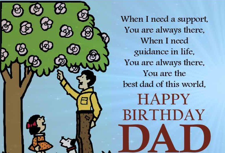 Happy Birthday Dad Wishes Images Quotes Messages Father Dads Card Sweet For