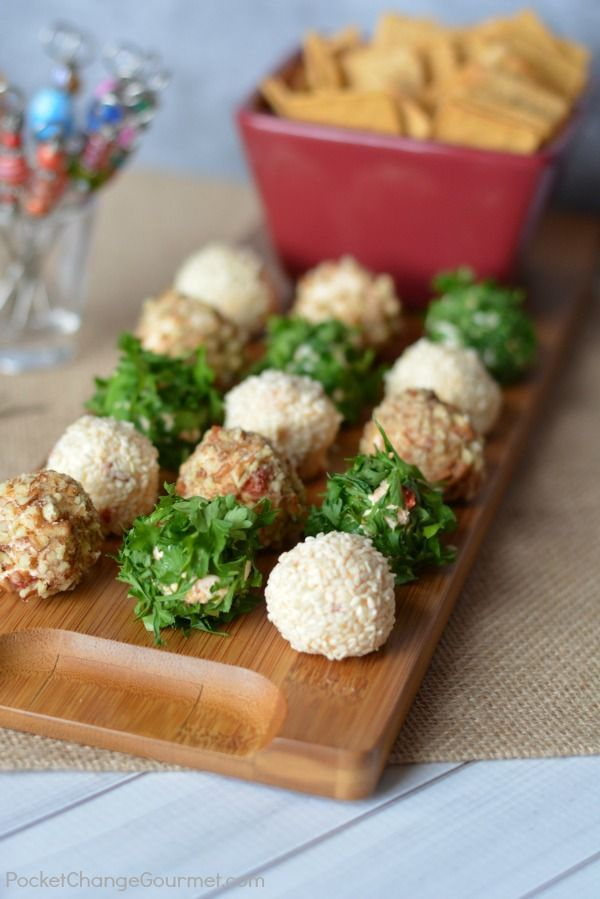 Mini Cheese Balls | Pocket Change Gourmet