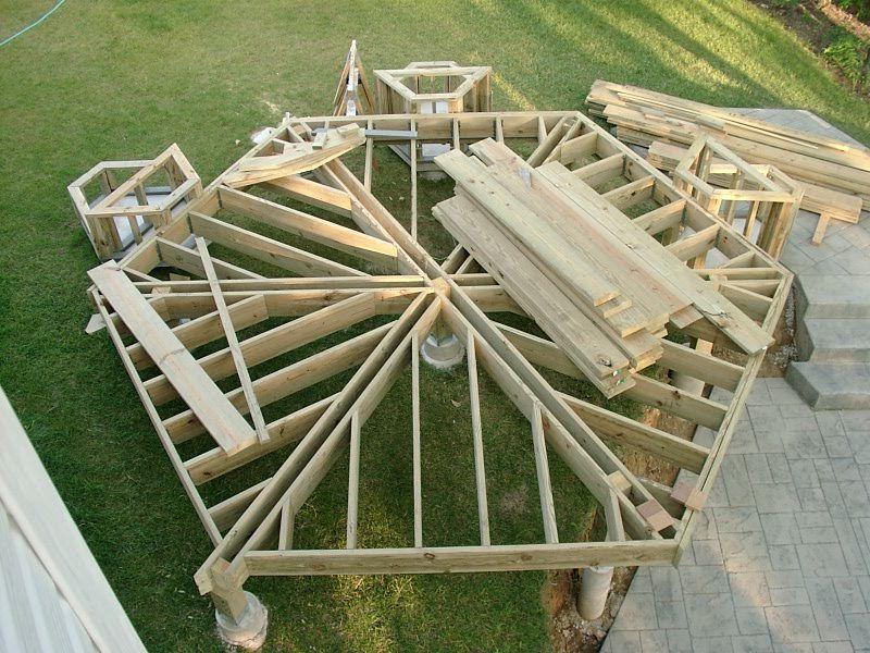 Hexagon Deck Gazebo On Deck Deck Construction Building A Deck