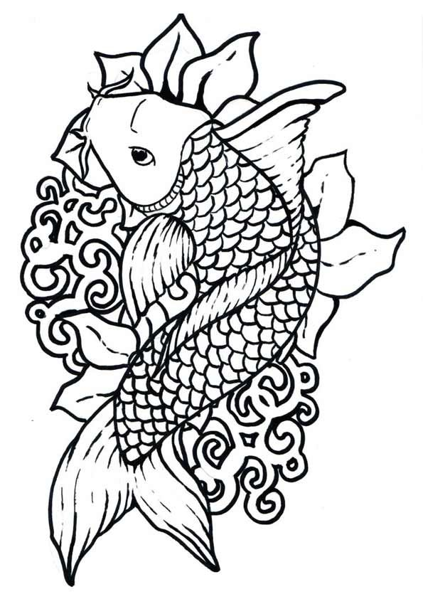 25 Interesting Koi Fish Coloring Pages For Your Toddlers Fish Coloring Page Koi Fish Colors Coloring Pages