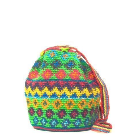 Mini Handwoven Mochila Bag - Wayuu Tribe - MOCHILAS WAYUU BAGS
