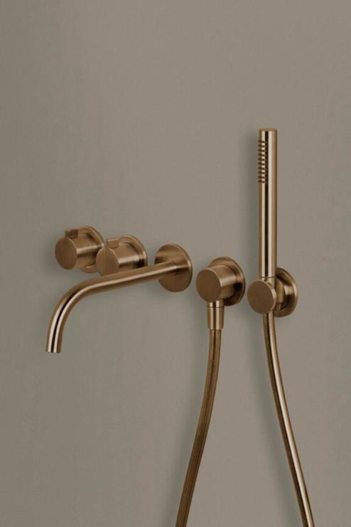 Photo of Copper bath set by byCOCOON.com | copper bathroom faucet | Designer bathroom | Lux…