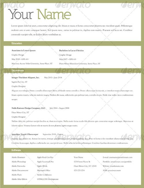Editable Resume Templates Pinterest Template and Sample resume