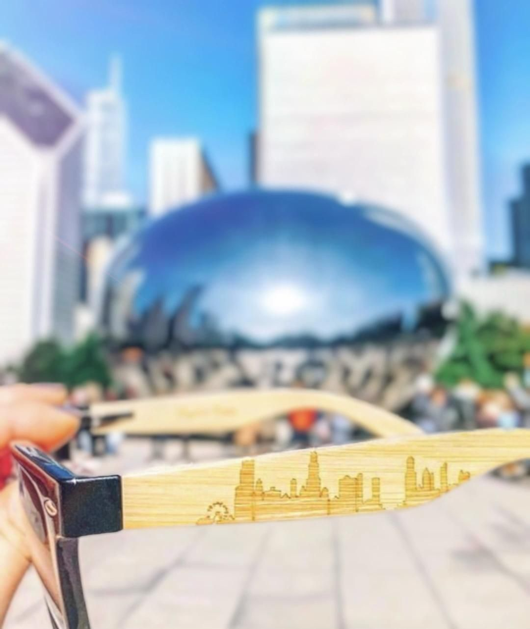 Polarized engraved Chicago skyline sunglasses next to the bean 😎  • • • • • #ilovechicago #abc7chicago #chicagobucketlist #uchicago #igchicago #chicagoland #chicagolife #jj_chicagoland #chicagoig #windycityspinners #windycity #likechicago #trib2016 #chicagoprimeshots #chigram #thisischicago #enjoyillinois #chicagogram