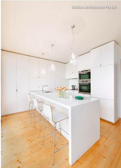 semi gloss cabinets, similar floor colour | White kitchen ...