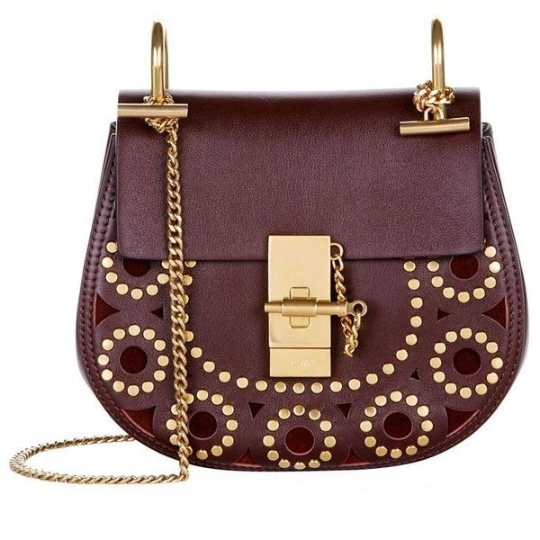 97e4531f Chloé Mini Drew Stud Circles Shoulder Bag ($1,640) found on Polyvore ...