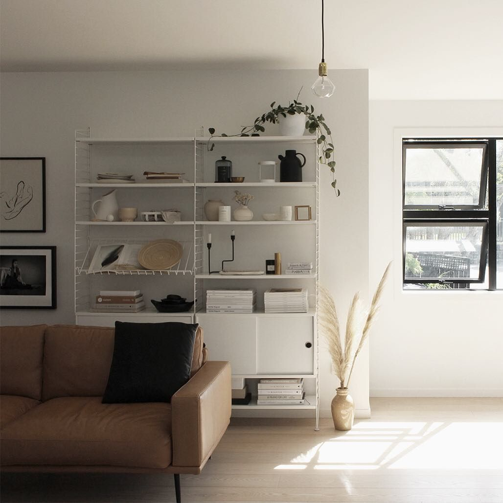 Shes Back Just In Time For The Weekend Fridaynightin Sofalove Boconcept Carlton Leather Stringshelf Interior Design Interior Home