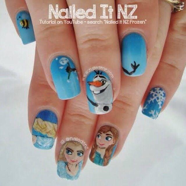 Frozen Nail Design Nails Pinterest Frozen Nail Designs Frozen - Frozen Nail Designs Images - Simple Nail Design Ideas For Beginners