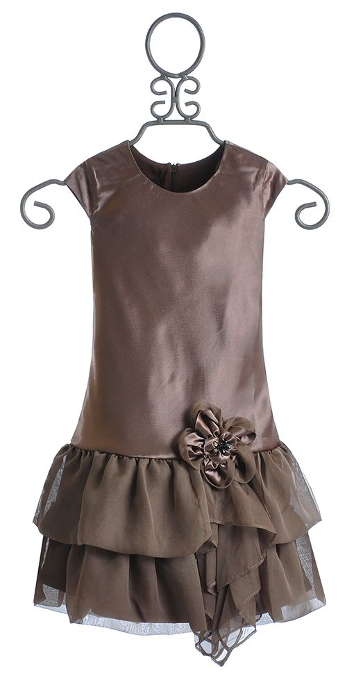 9c0c825f8 Little girls designers clothes-. Isobella and Chloe Brown Mocha Special  Occasion Dress for Girls