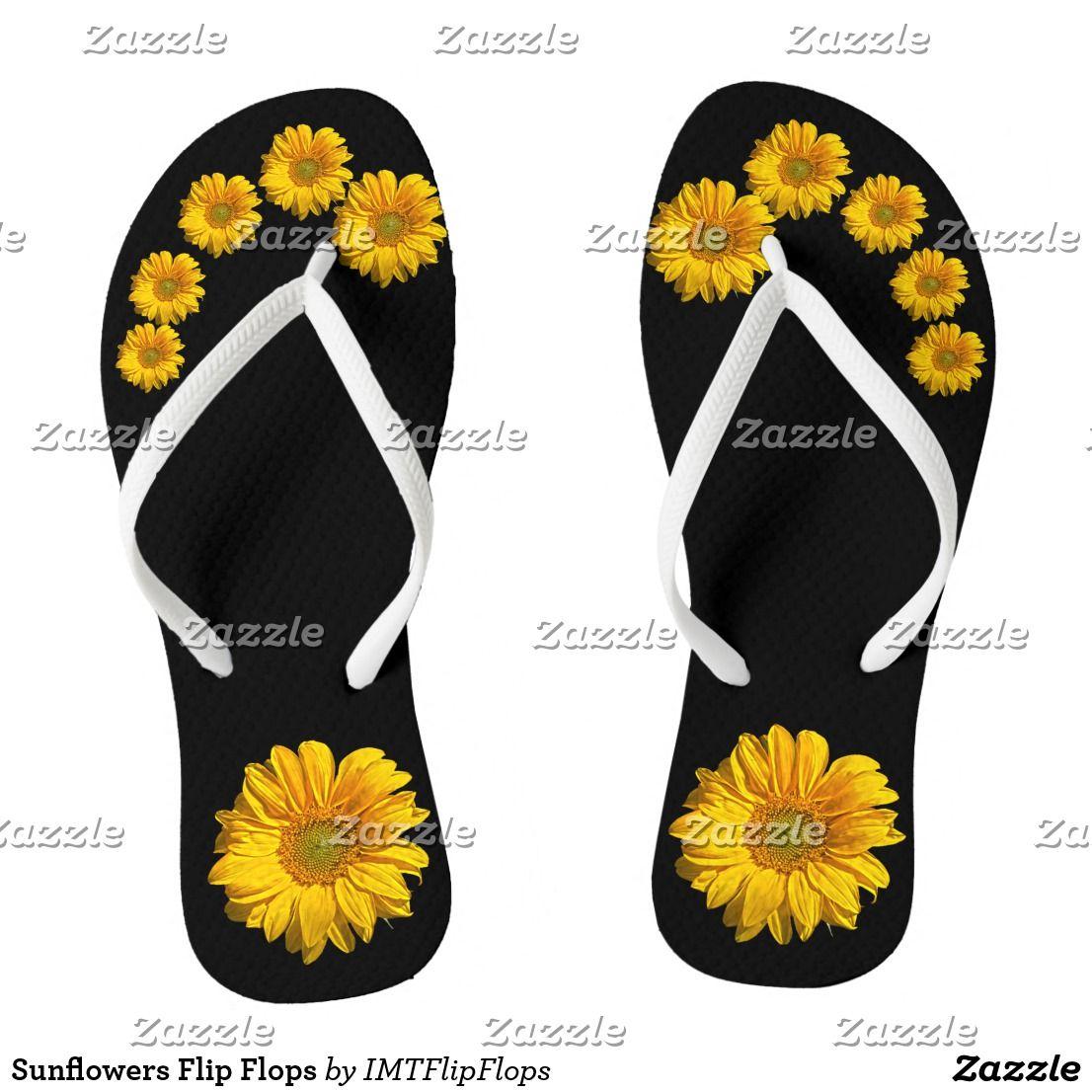 46e8c1ed2 Sunflowers Flip Flops