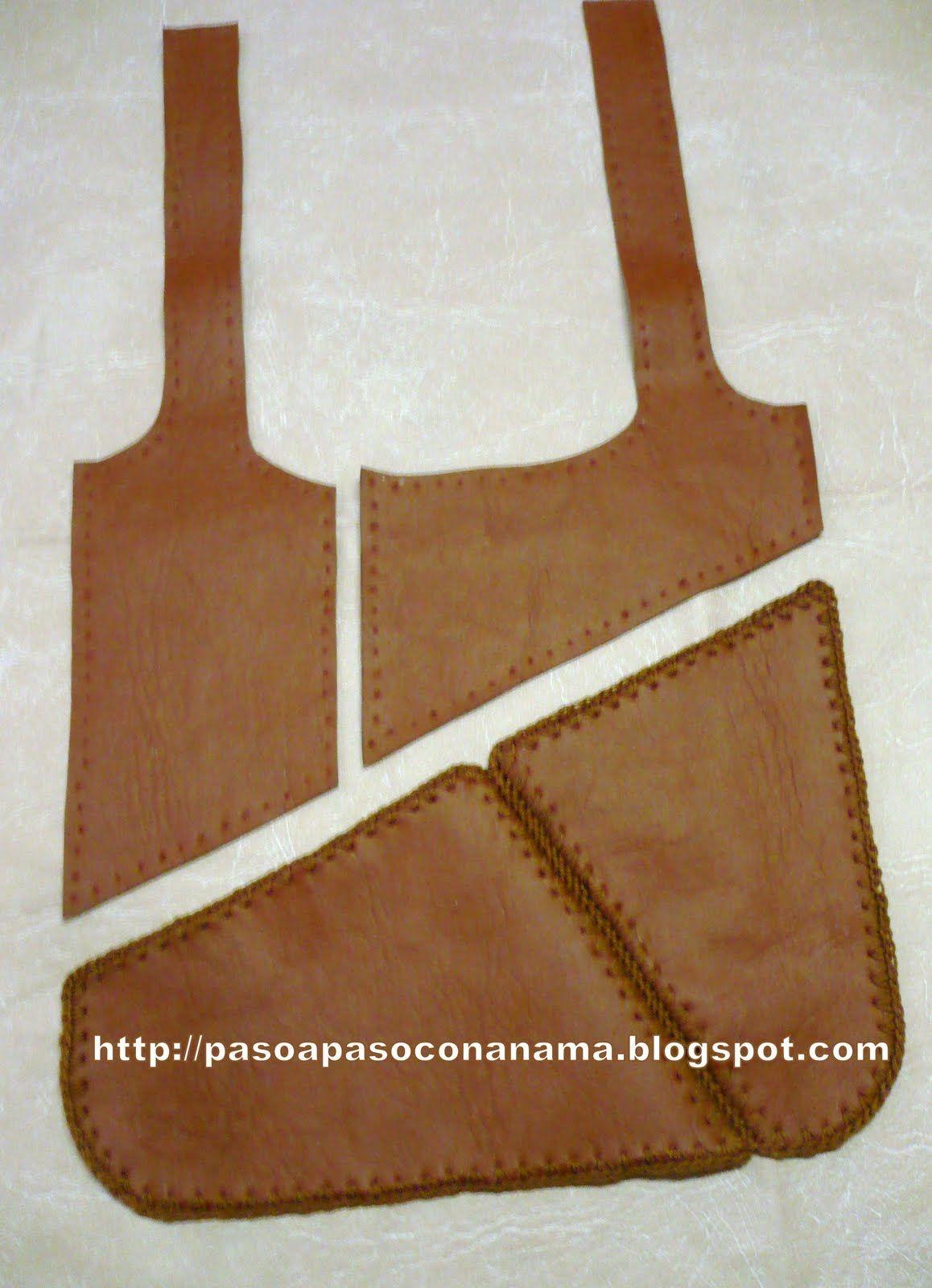 como hacer un bolso de cuero artesanal paso a paso