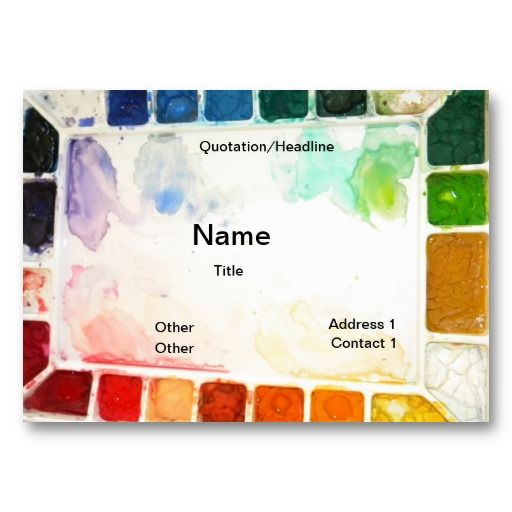 Art teacher and painter cards card templates business cards and art teacher and painter cards business card templates colourmoves