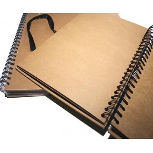 A4 Seawhite Hardback Kraft Paper Sketch Book Scrapbook 40 Sheets Display