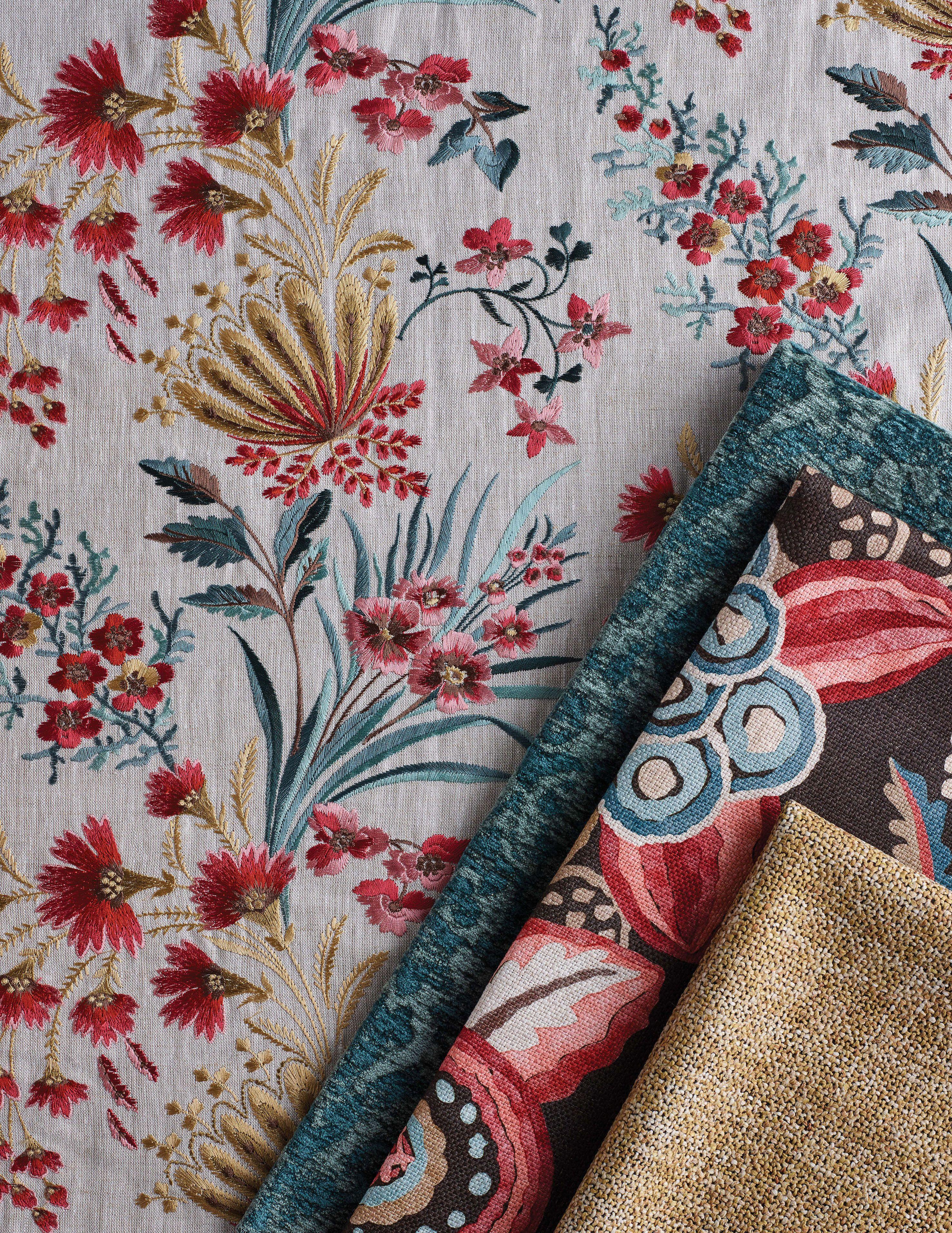 Michelham Pretty embroidery, Floral spray, Prints