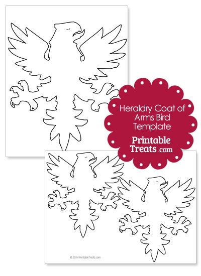 Printable Heraldry Coat Of Arms Bird From PrintabletreatsCom