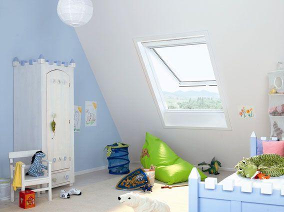 VELUX topphengslet takvindu er med på å gi god luft på barnerommet
