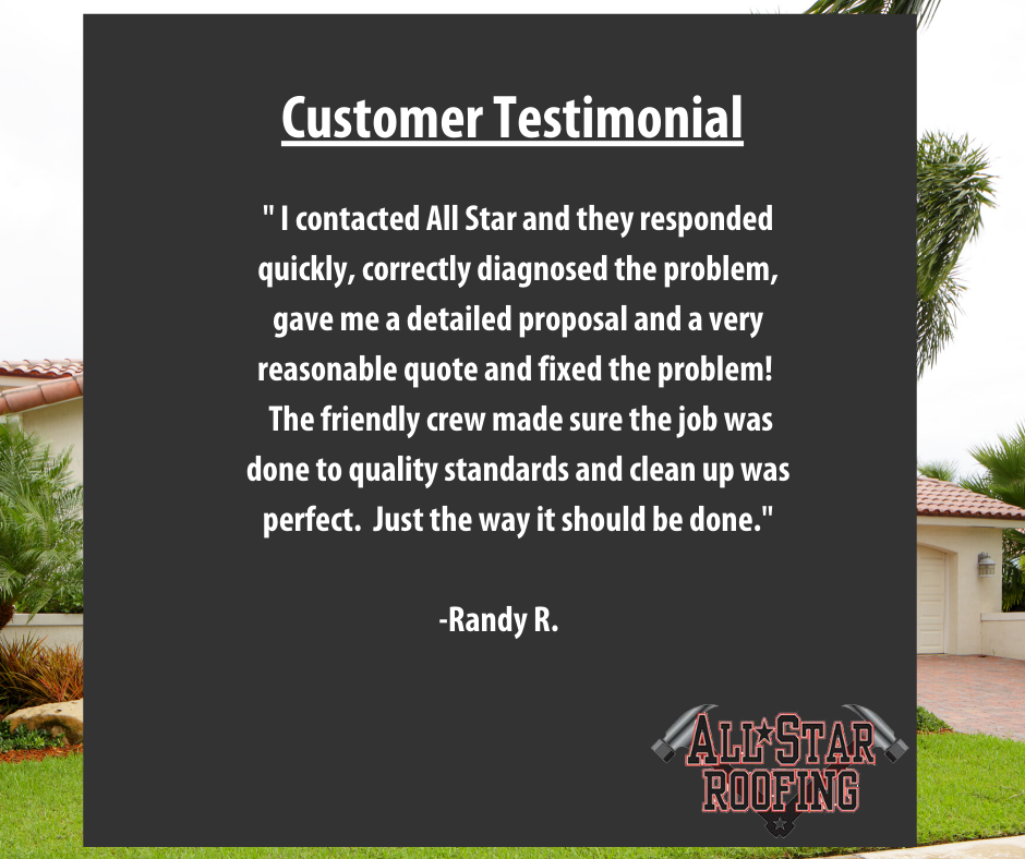 We recently had the pleasure of doing a roof repair for