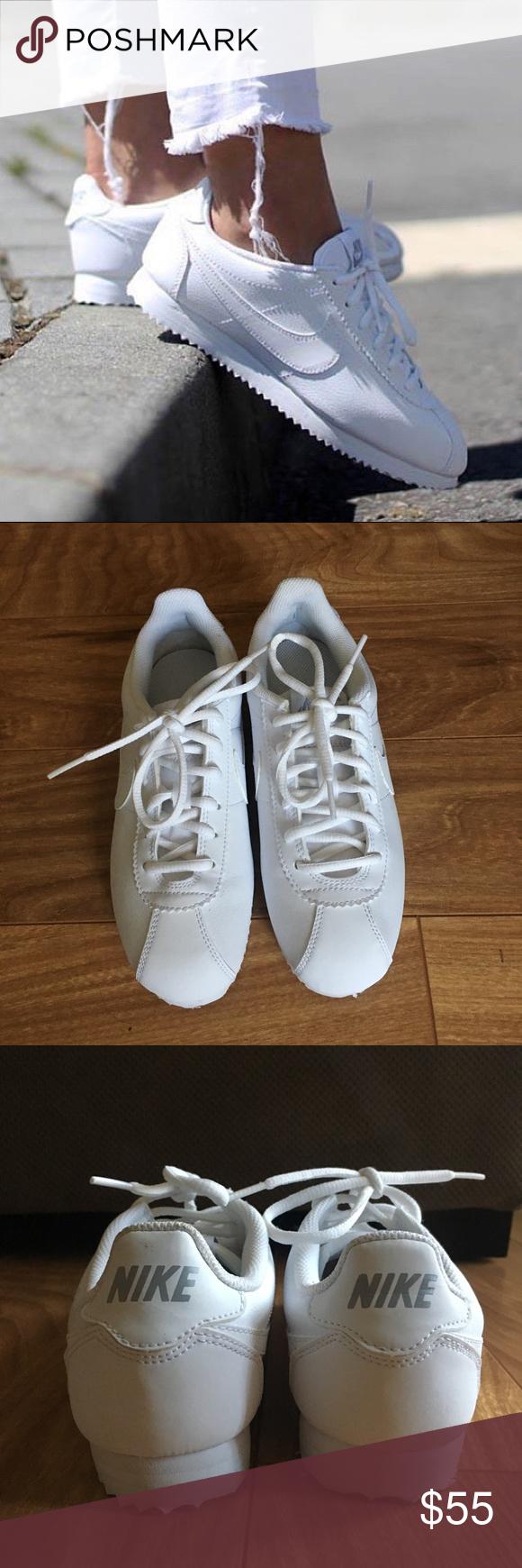 White Nike Cortez brand new white nike cortez for women!! Nike Shoes  Sneakers   My Posh Picks   Pinterest   Nike cortez, Women nike shoes and  Women nike