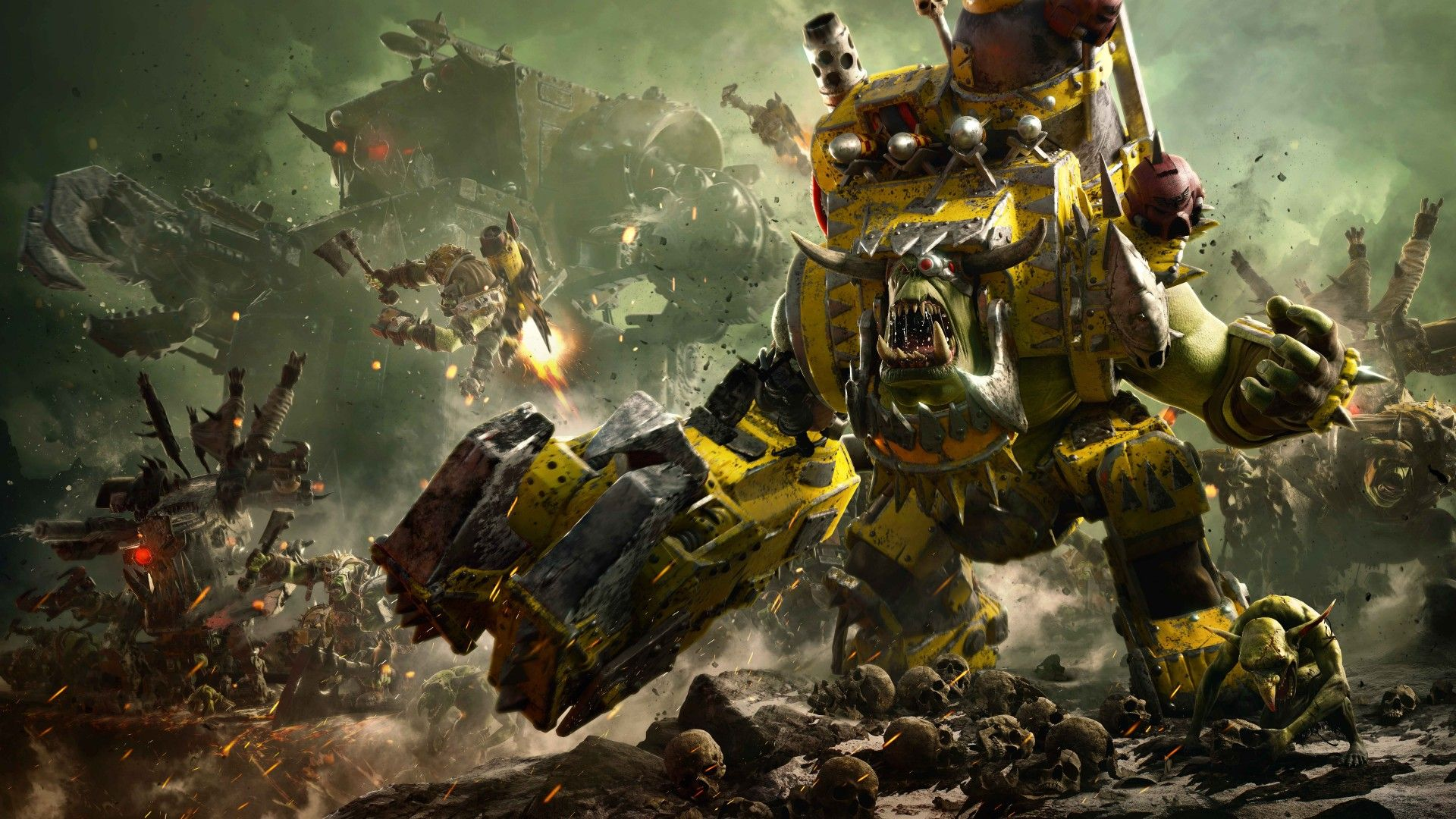 Warhammer 40K, Dawn of War III, Ork Faction, 4K, 8K