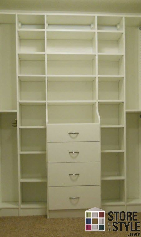 Drawers And Shelves Line The Back Wall Of This Walk In Closet. Find Out How