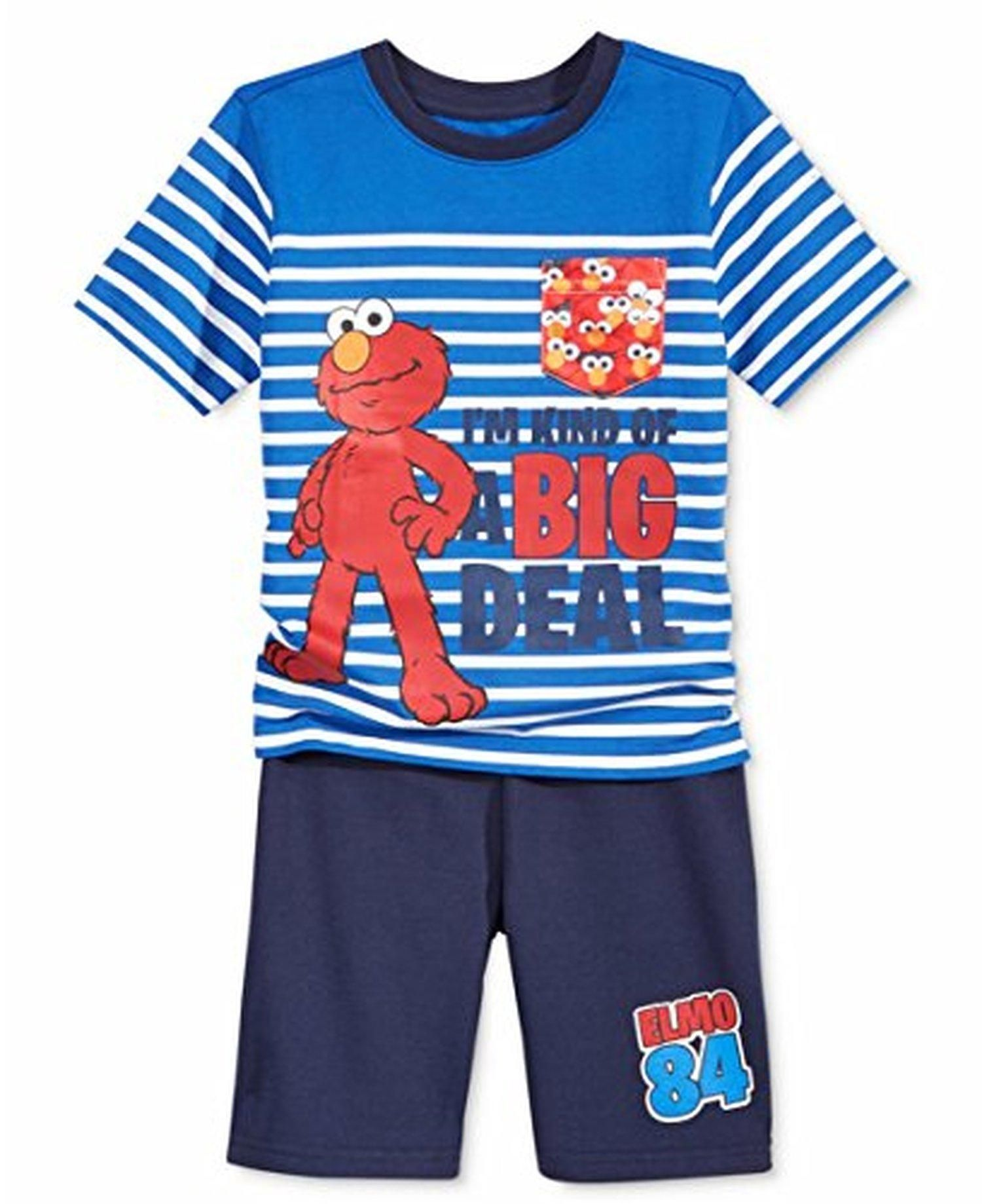 a8bf7dbd66 Sesame Street Elmo Infant Baby-Boys 2 Piece Set Pocket Shirt & Shorts (12  months ) - Brought to you by Avarsha.com