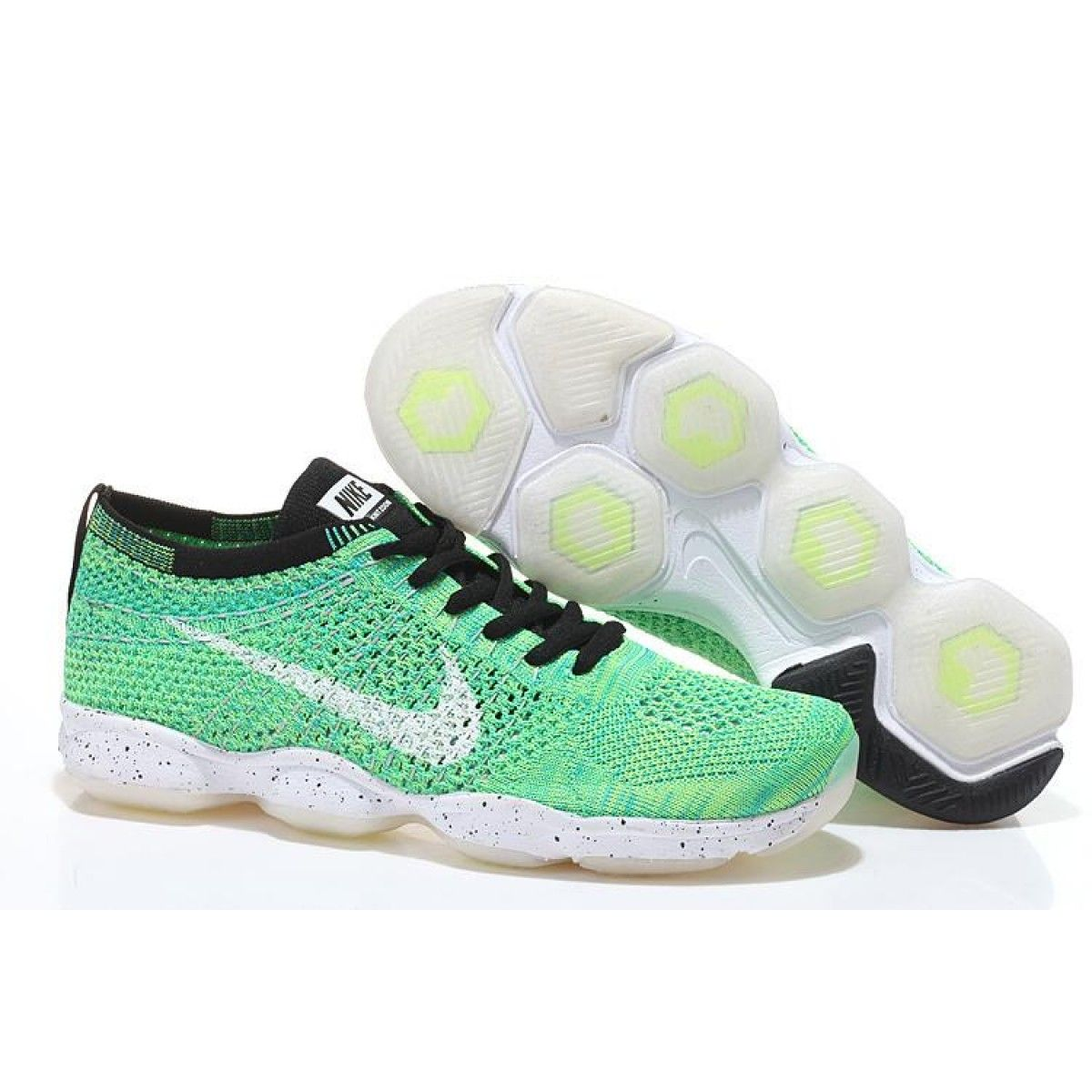 new product d5331 458cf Nike Flyknit Zoom Agility Women s Training Shoe - Green White