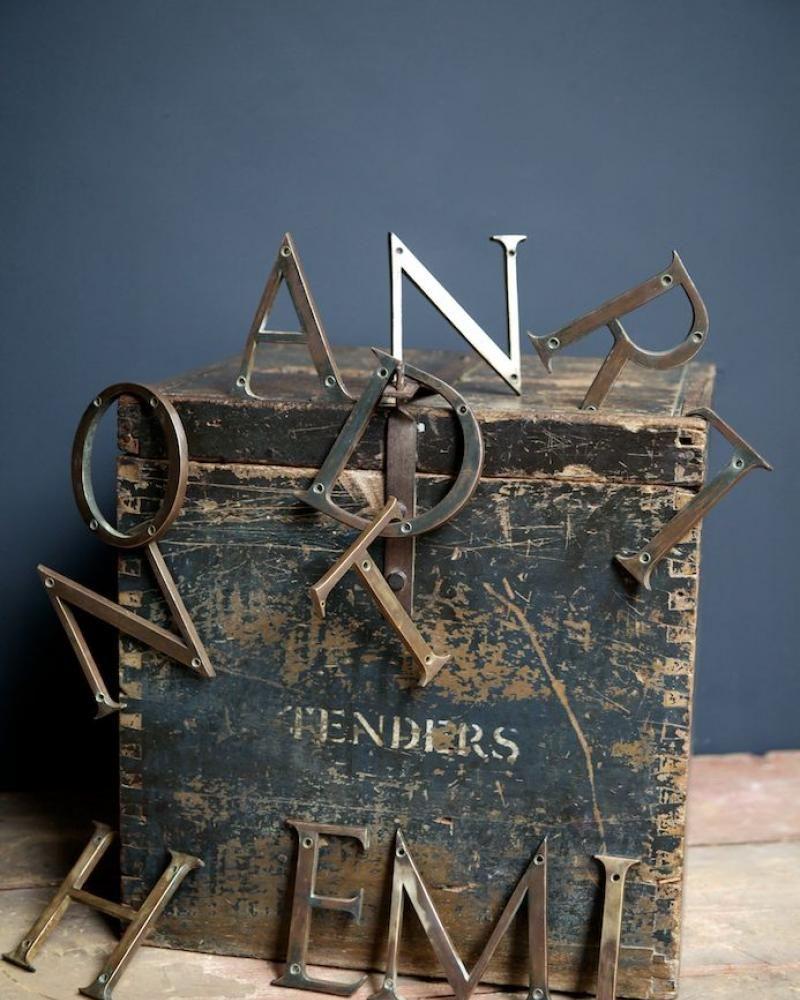Selection of Bronze Letters, Decorative Antiques, Drew Pritchard