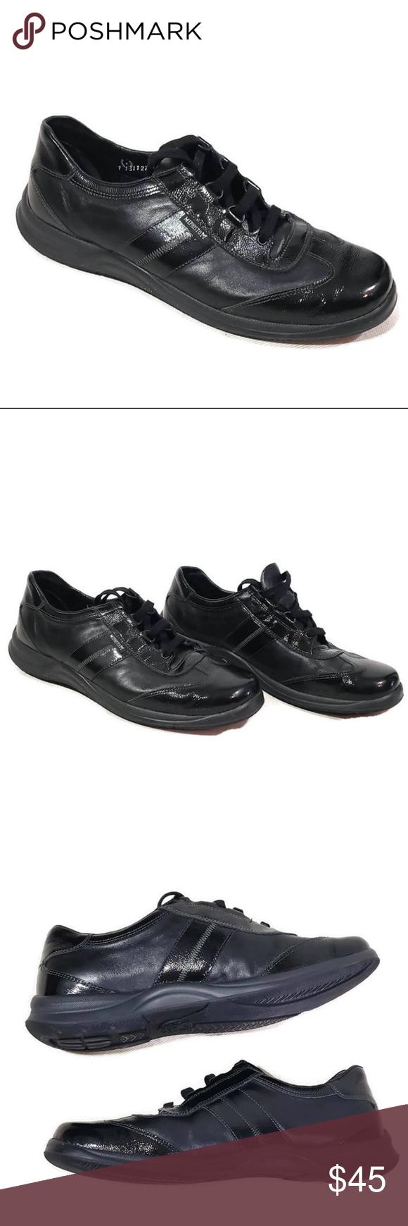 Mephisto Laser Black Sneakers walking shoes 10.5 Black