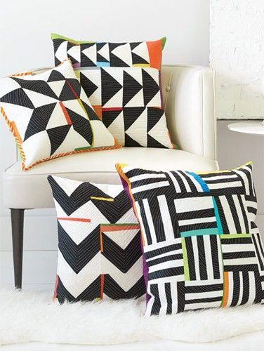 Improv Pillows in Black + White Kit   InterweaveStore.com
