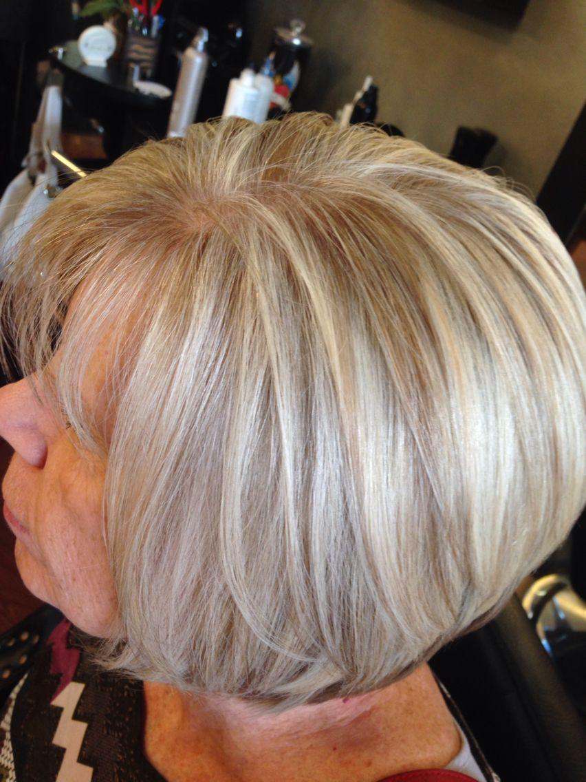 Highlight And Lowlight Through Natural Gray Am Hair