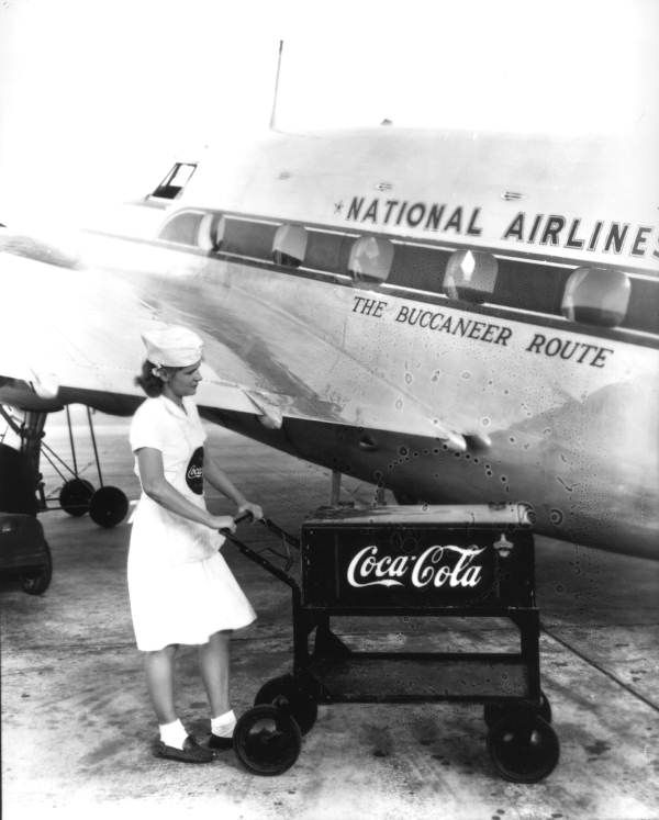 Florida Memory - Woman selling Coca Cola at the National Air Lines terminal in Jacksonville
