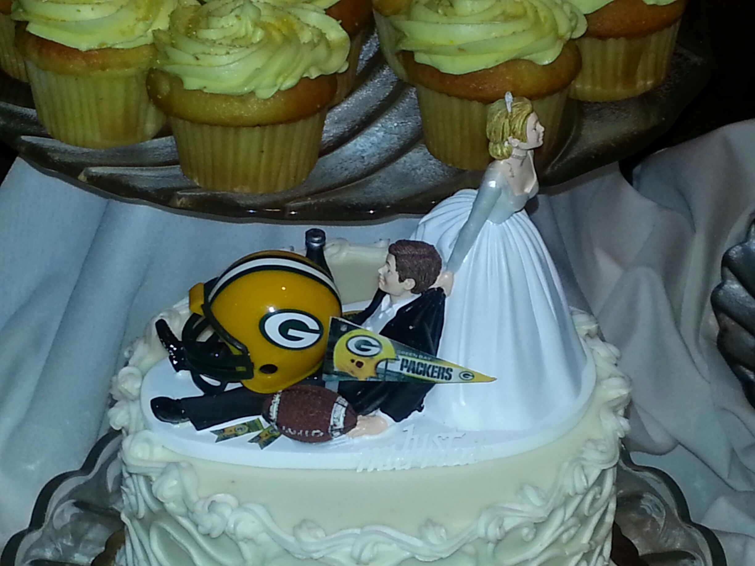 green bay wedding cake topper wedding cake topper sorry packers green bay packers 14967