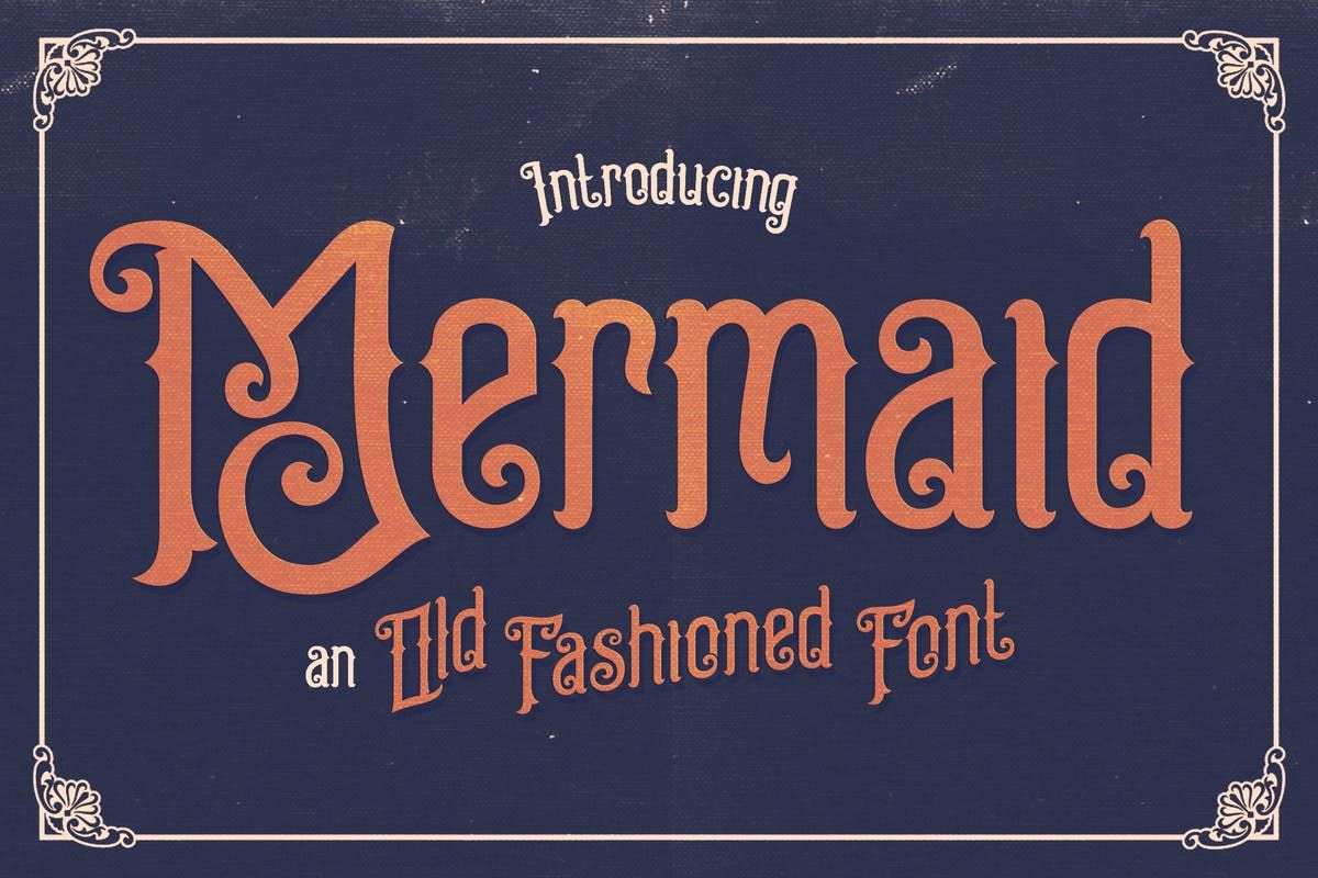 Download Mermaid Typeface Fonts by alterdecoinc. Subscribe