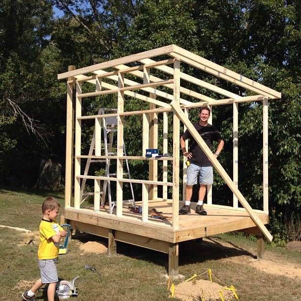 Frame for a 9x7 39 chicken coop with a slant roof design for How to build a sloped roof shed