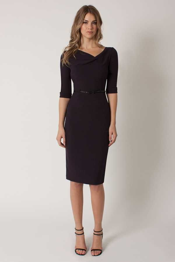 ad56c6fdbd9 Black Halo 3 4 Sleeve Jackie O Dress