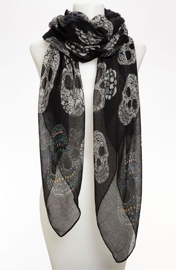 e707987d14fd8 Sugar Skull Sheer Scarf available at #Nordstrom Not sure if i can pull it  off!
